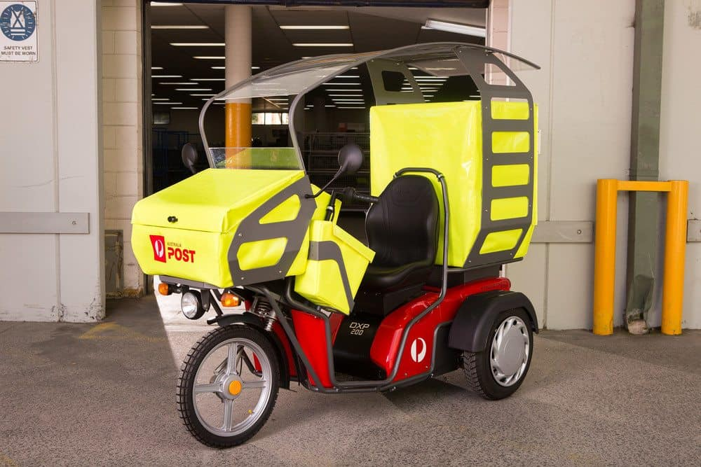 australia post electric vehicle