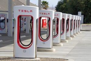Tesla Supercharger Station Kettleman City, CA