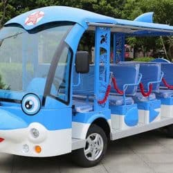 14 seat electric shuttle vehicle