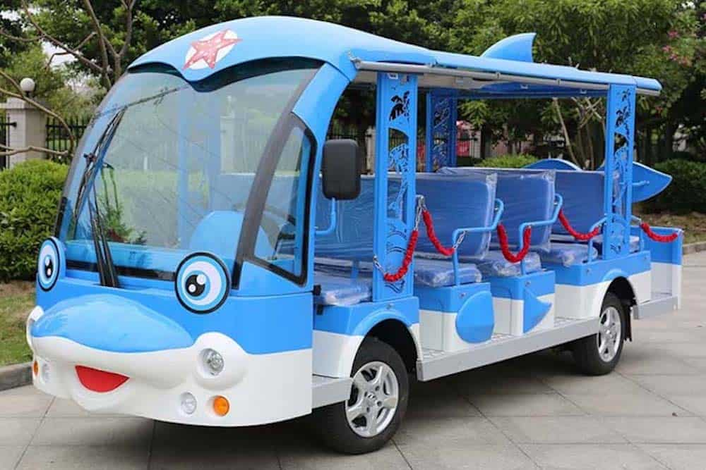 Check out these Electric Shuttles at the Miss World Pageant